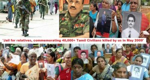 'Jail for relatives, commemorating 40,000 Tamil Civilians killed by us in May 2009′