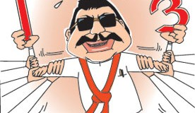 Wimal and Champika are puppets on a string who danced to Mahinda's Tune.