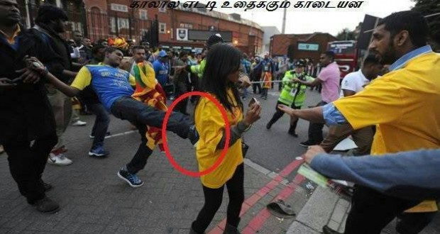 Tamil Girl assaulted by Sinhala thug in Oval.